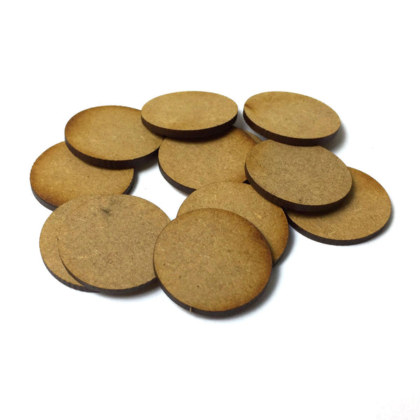 25mm Round MDF Bases (12 Pack)