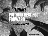 YOUR BEST FOOT FORWARD WallArt