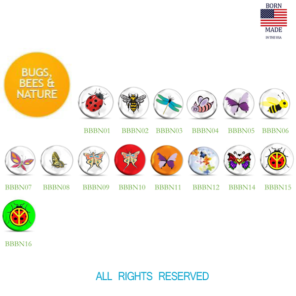 Lucky Snaps Charms: BUGS BEES & NATURE