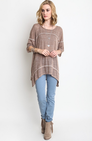 Oversized Square Detailed Tunic