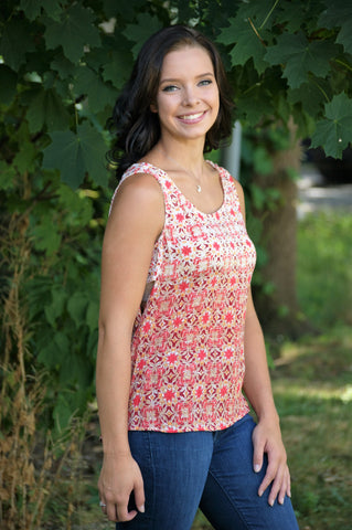 "Patterned ""Amanda"" Top"