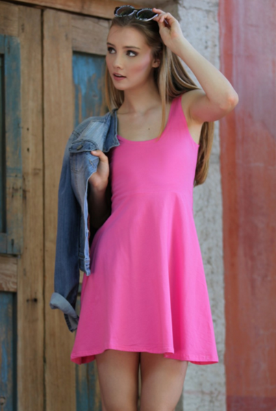 Perfectly Pink Skater Dress