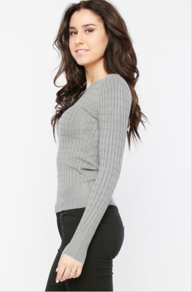 "Grey ""Alyssa"" Sweater"