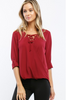 "Burgundy ""Michelle"" Top"