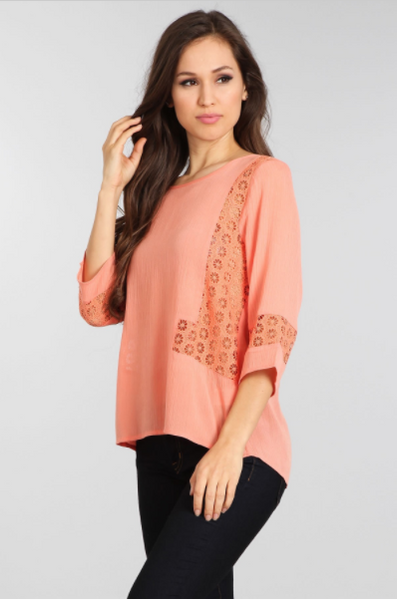 "Coral ""Jessica"" Top"