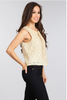 Textured, Sleeveless Top In A Relaxed Style With A Neck Tie