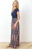 Navy Patterned Maxi Dress