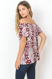 Off The Shoulder Paisley Top