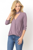 Purple V-Neck Top