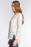 Long Sleeve Top With Side Buttons