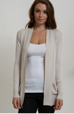 Tan Double Pocket Cardigan