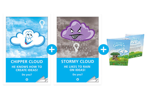Chipper and Stormy Cloud (set of 2) + Chipper Book half off