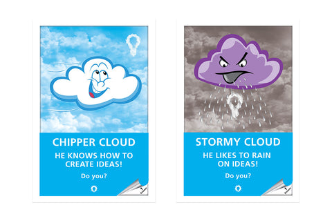 Chipper and Stormy Cloud (set of 2)