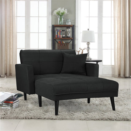 Sleeper Chaise Lounge in Black