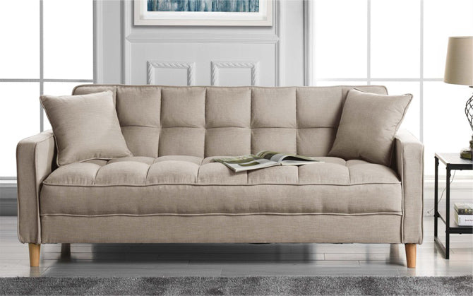 Linen Sofa in Beige