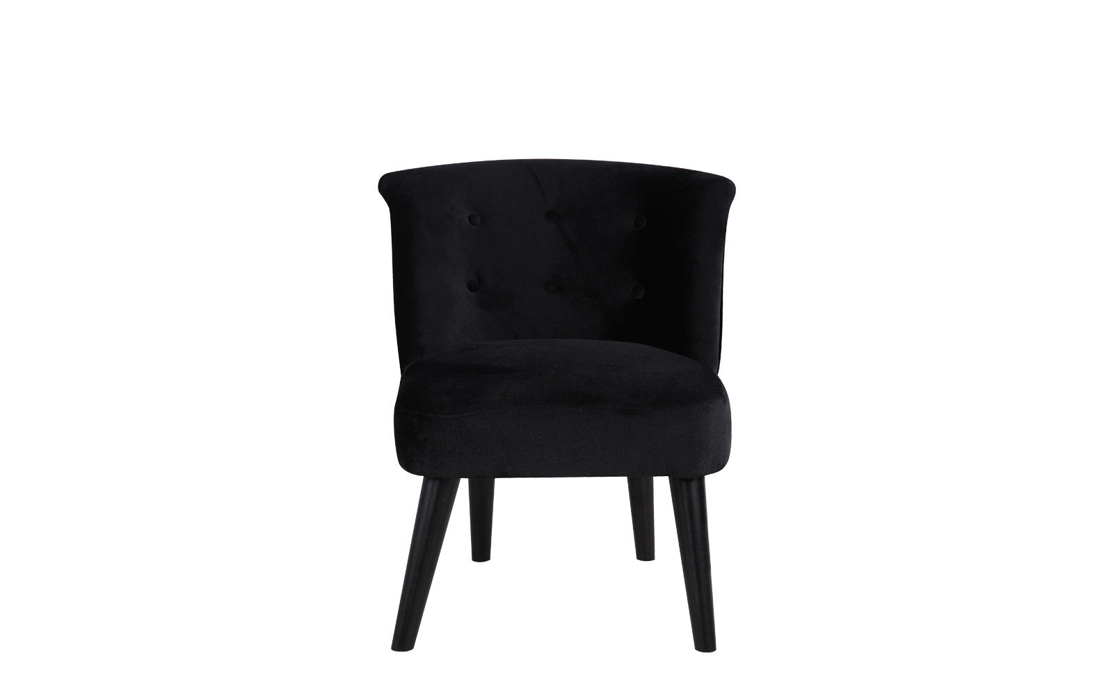White tufted accent chair - Roger Velvet Accent Chair With Tufted Details