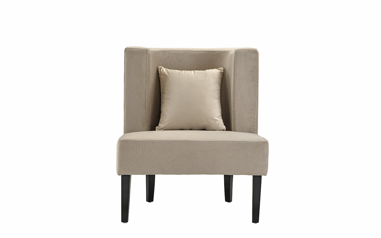 Arizona Modern Velvet Club Chair With Accent Pillow