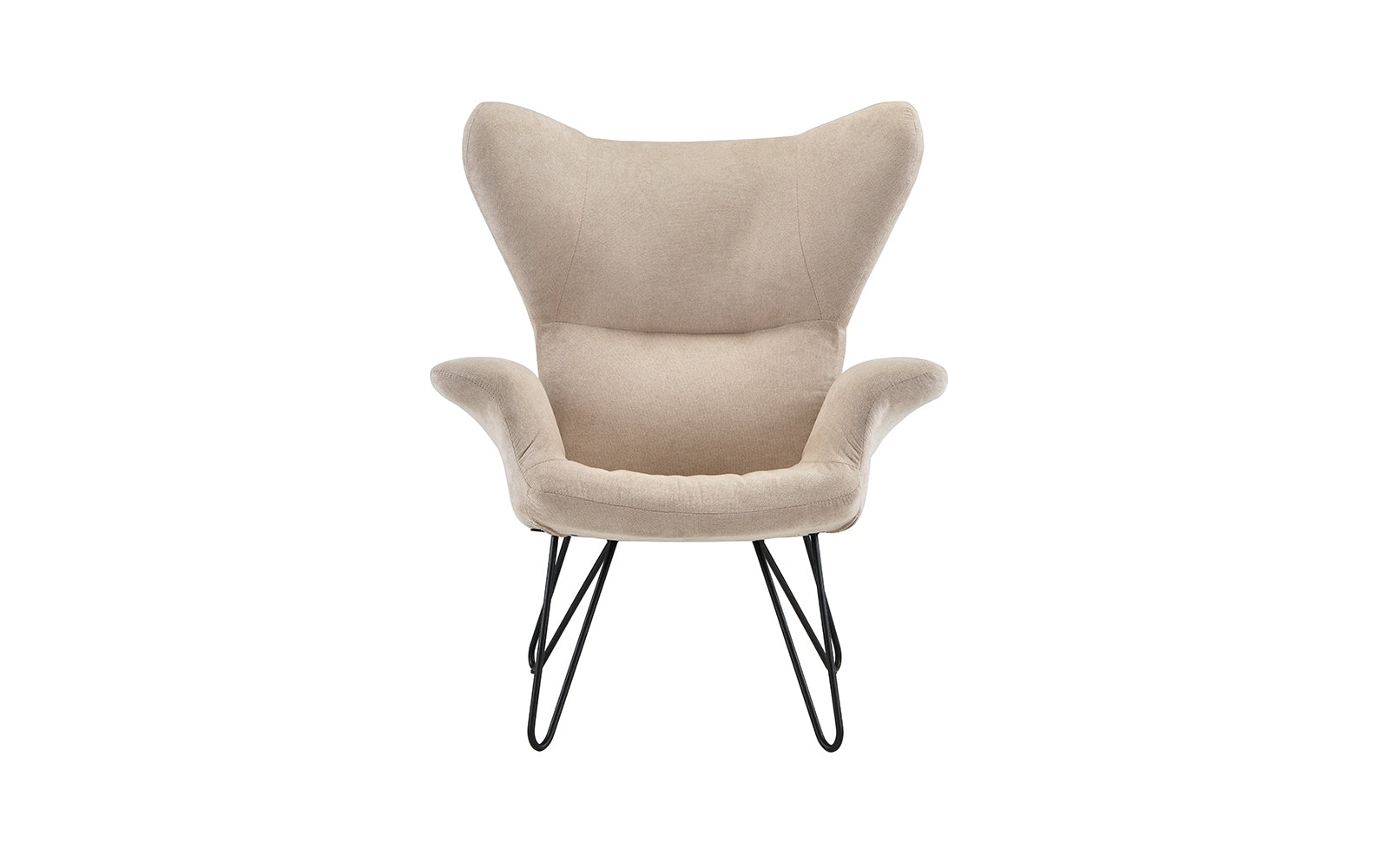 Super Leyla Contemporary Armchair With Metal Infinity Pin Legs Theyellowbook Wood Chair Design Ideas Theyellowbookinfo