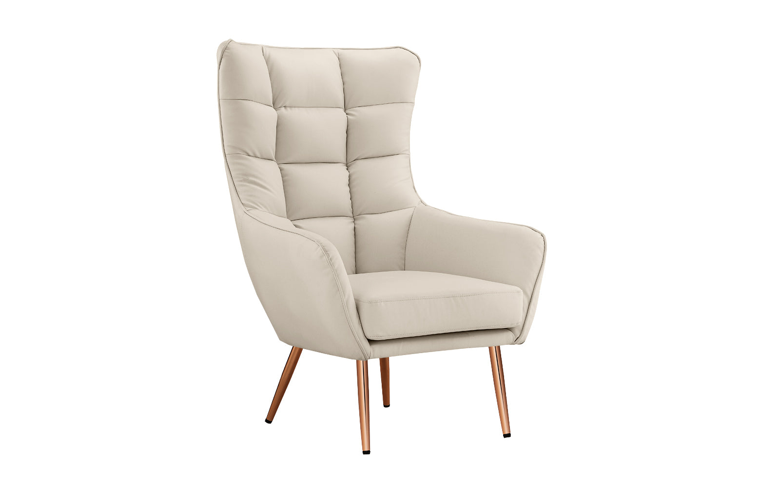 Faux Leather Shelter Armchair Image
