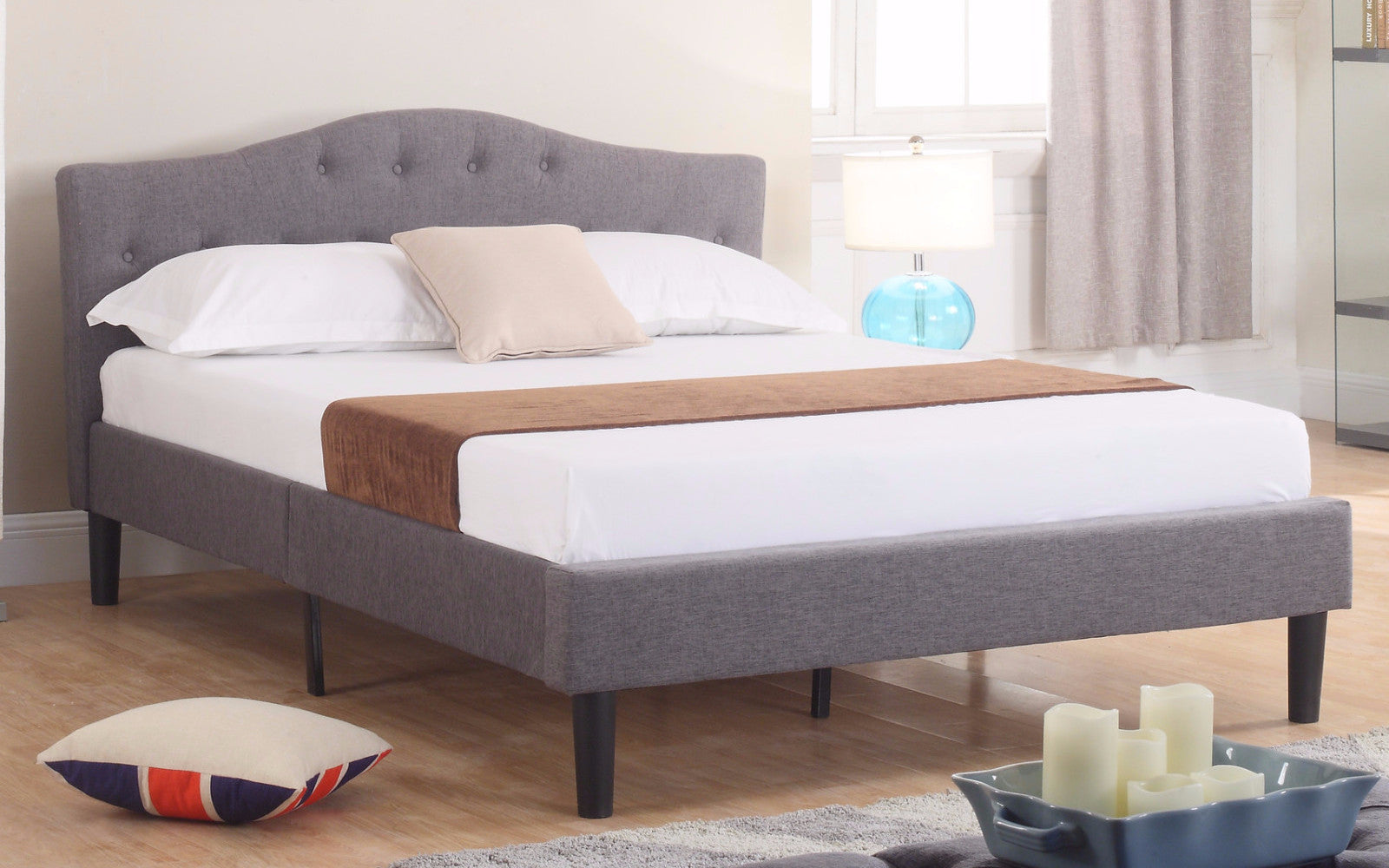 Fabric Bed Gray Image