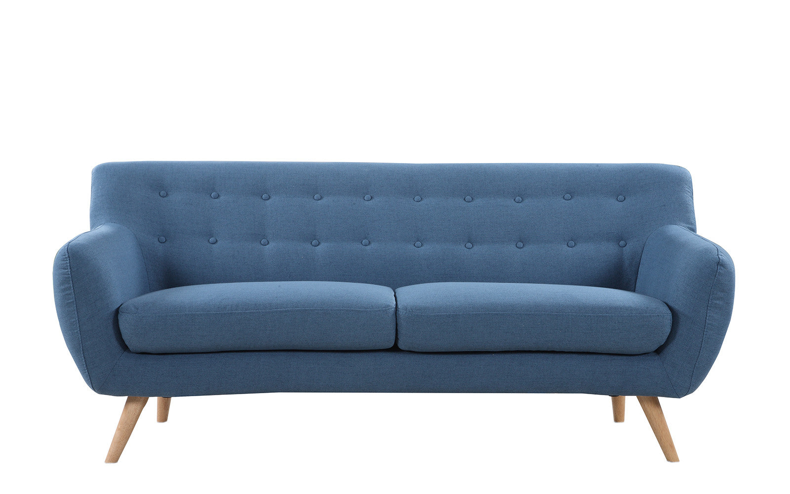Marvelous ... Nico Mid Century Modern Fabric Sofa In Blue