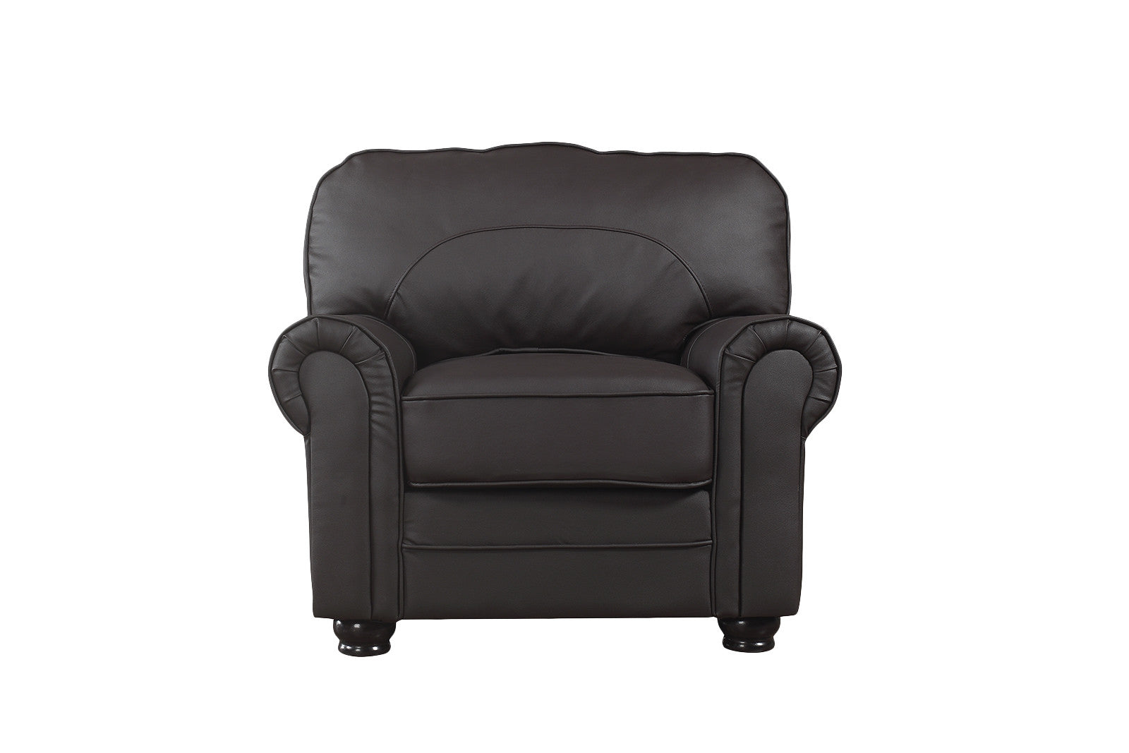 Plush Leather Armchair Image