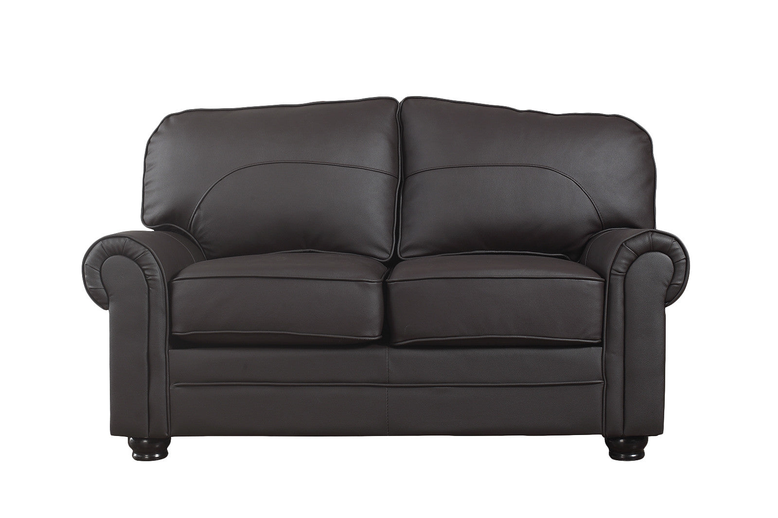 Plush Leather Loveseat Image
