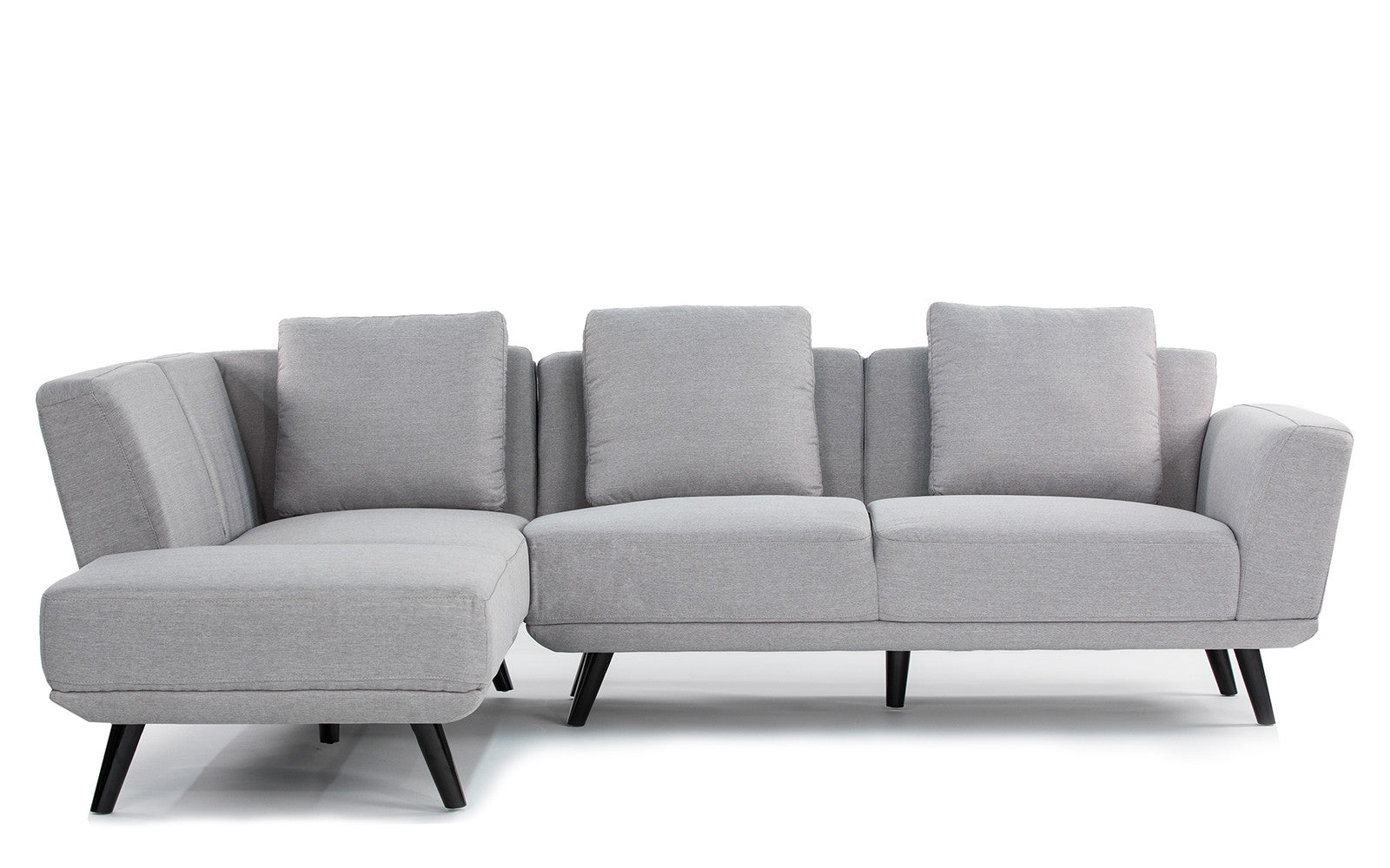 Galleria Mid Century Modern Sectional - Light Grey  sc 1 st  Sofamania : black modern sectional - Sectionals, Sofas & Couches