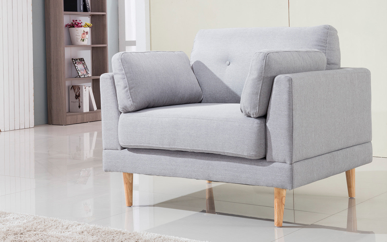 Club Armchair Accent Pillows Image