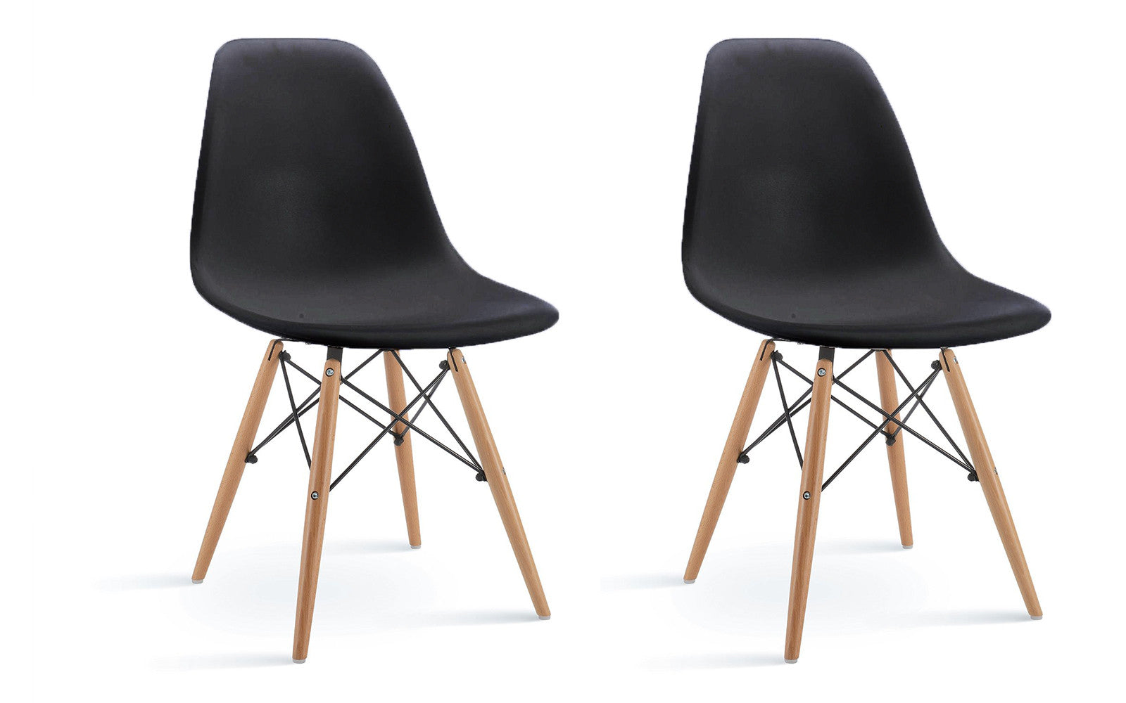 ... Ray Modern 2 Set Chairs In Black ...