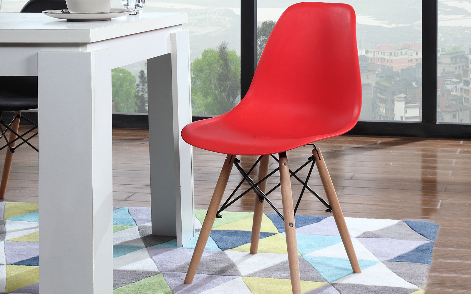... Ray Modern 2 Set Chairs In Red ...