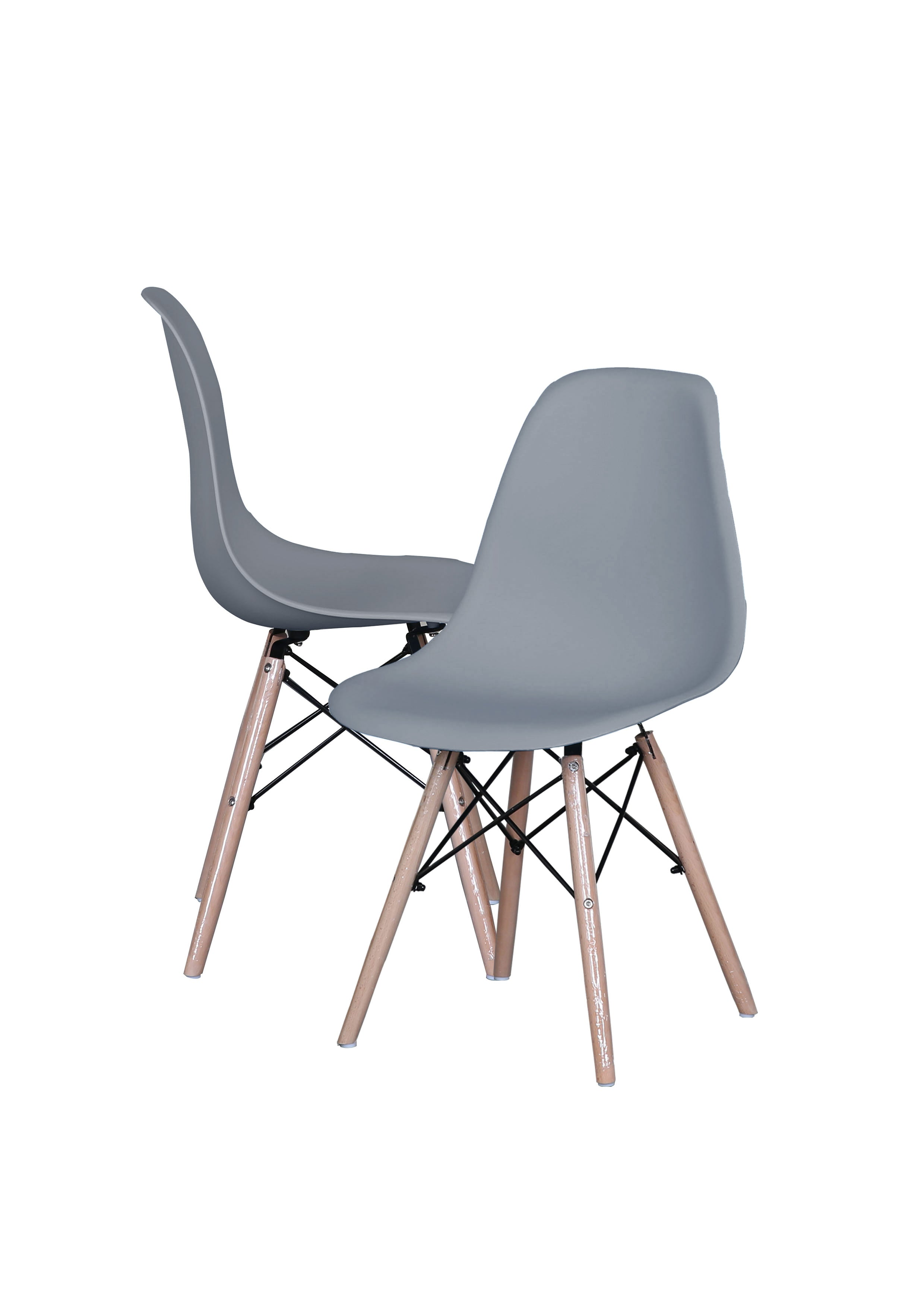 Ray set of 2 classic modern eames inspired chairs