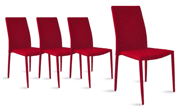 Jazz Set Of (4) Minimalistic Color Pop Mod Kitchen Dining Chairs |  Sofamania.com