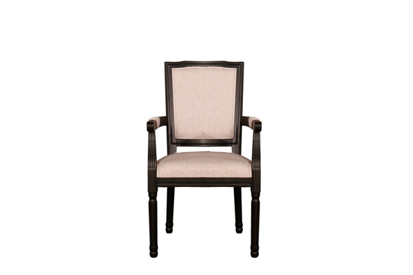 Lucia Rustic Distressed Dining Arm Chair Sofamania Com