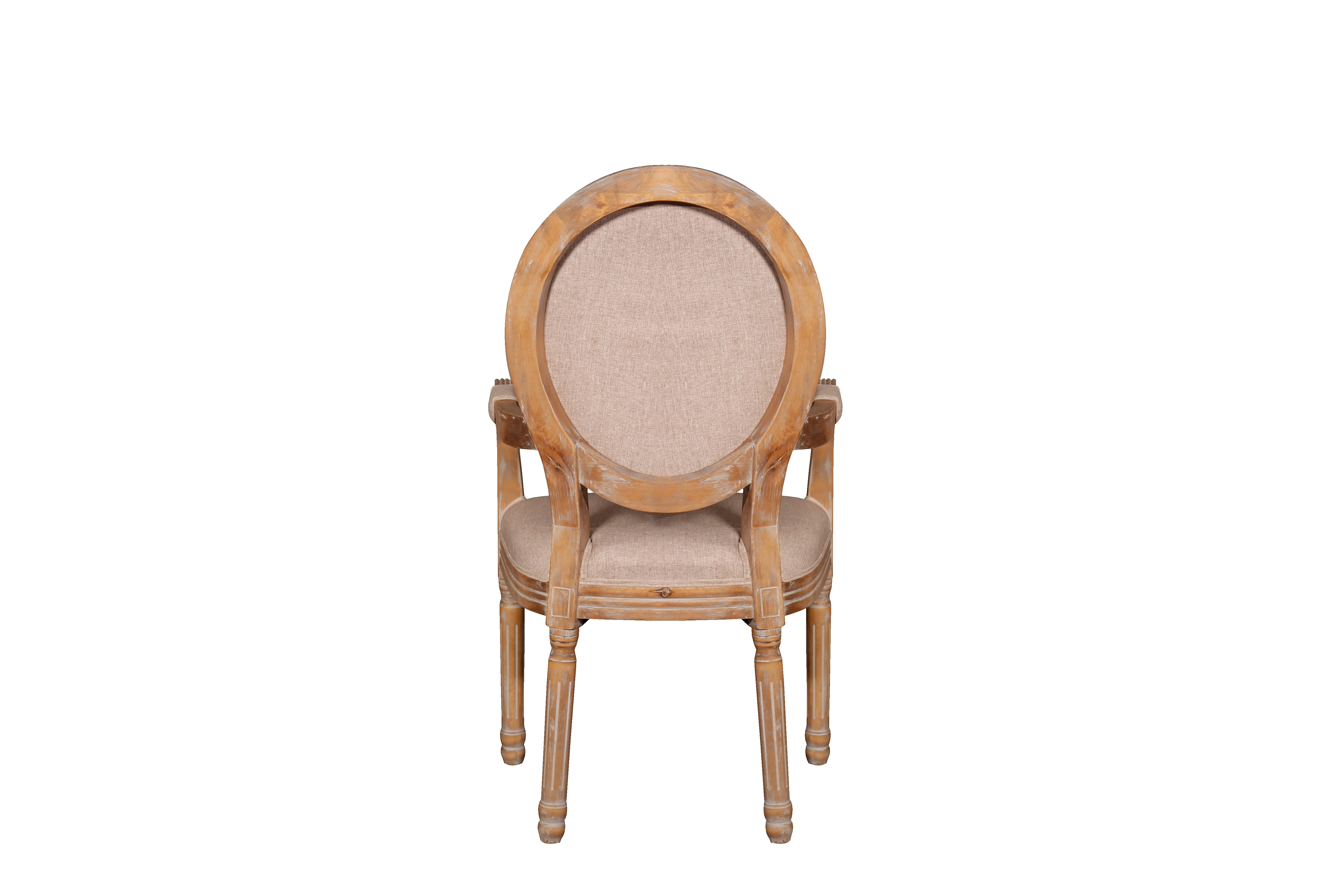 Victoria Rustic Dining Room Chair With Round Back Rest