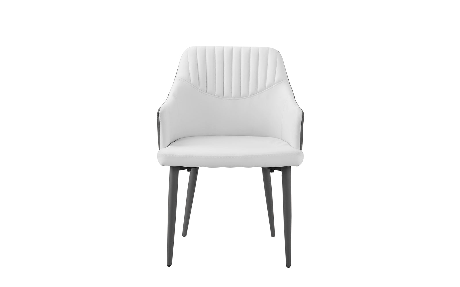 Cadence Set of 2 Dining Armchairs in Faux Leather | Sofamania.com