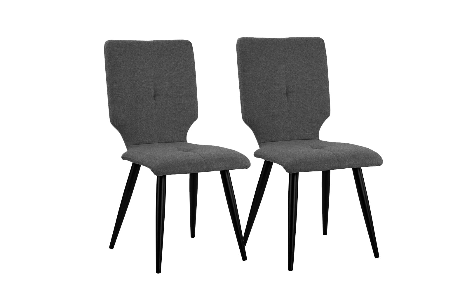 Ava set of 2 modern upholstered dining chairs for Upholstered dining chairs contemporary