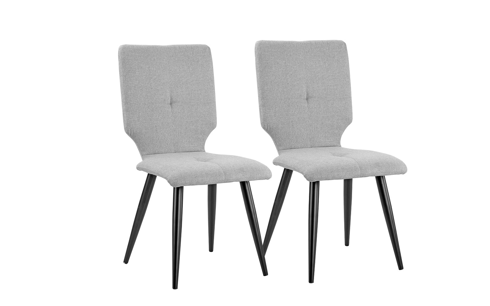 Ava set of 2 modern upholstered dining chairs