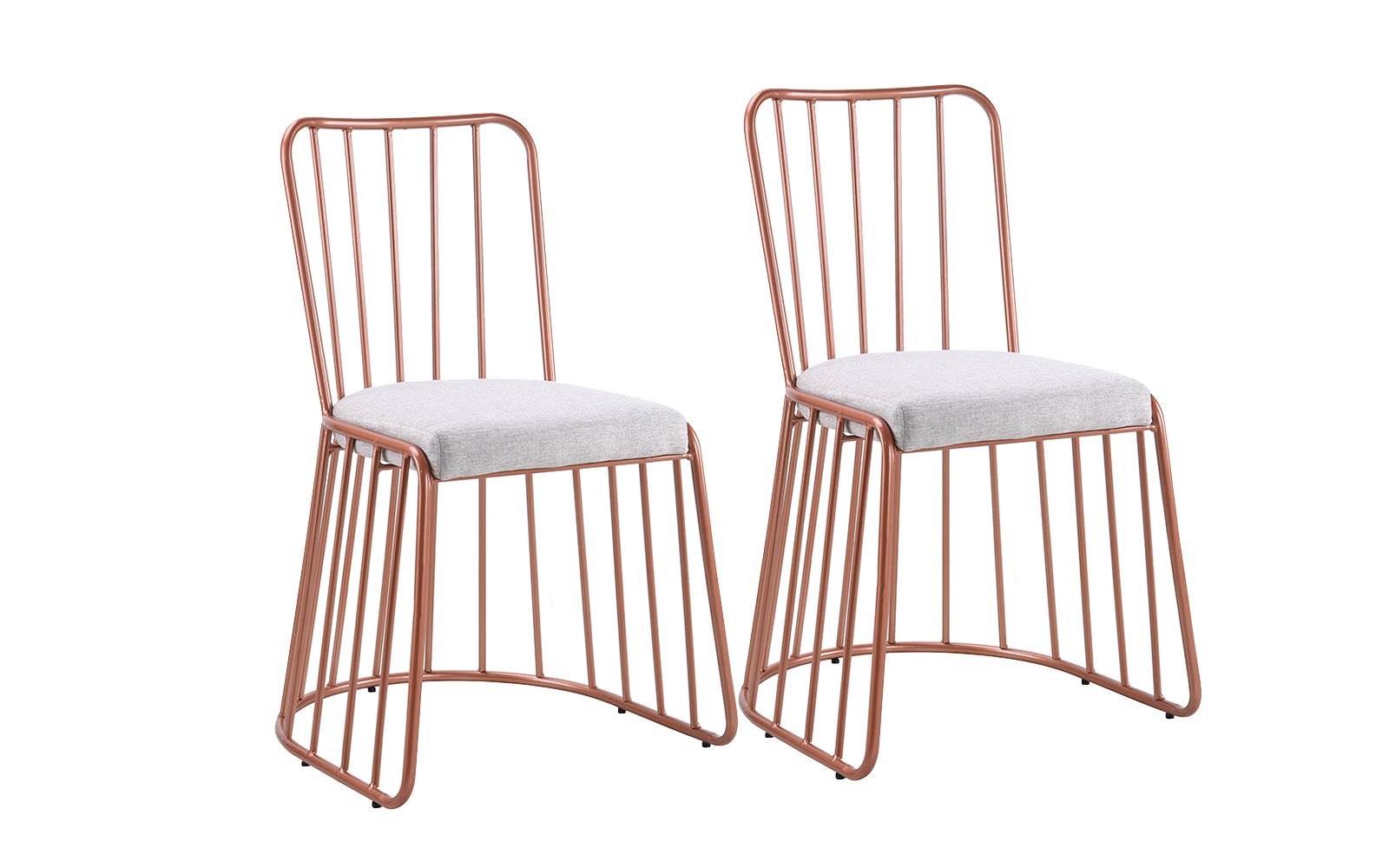 Belen Set Of 2 Precious Metals Industrial Style Accent Chairs