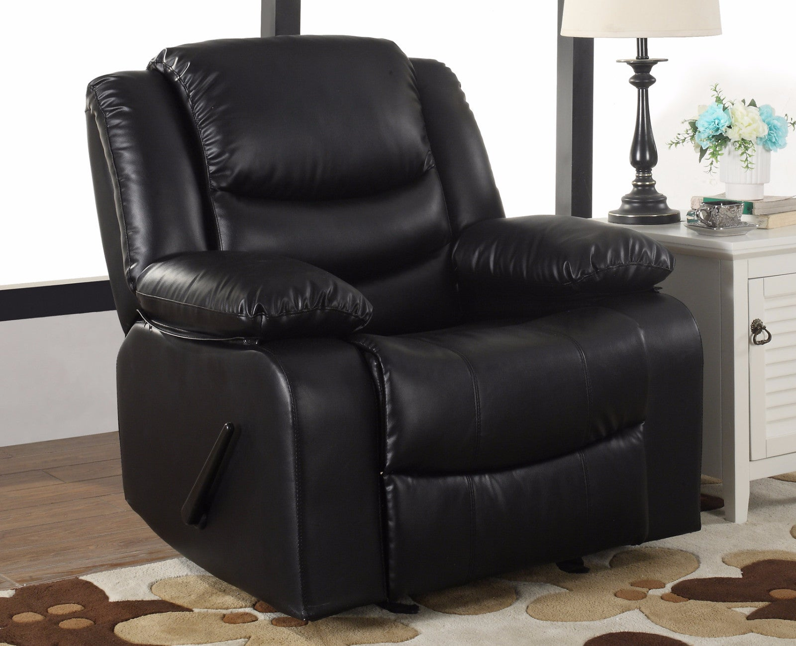 ... Vic Classic Bonded Leather Recliner Lifestyle Shot
