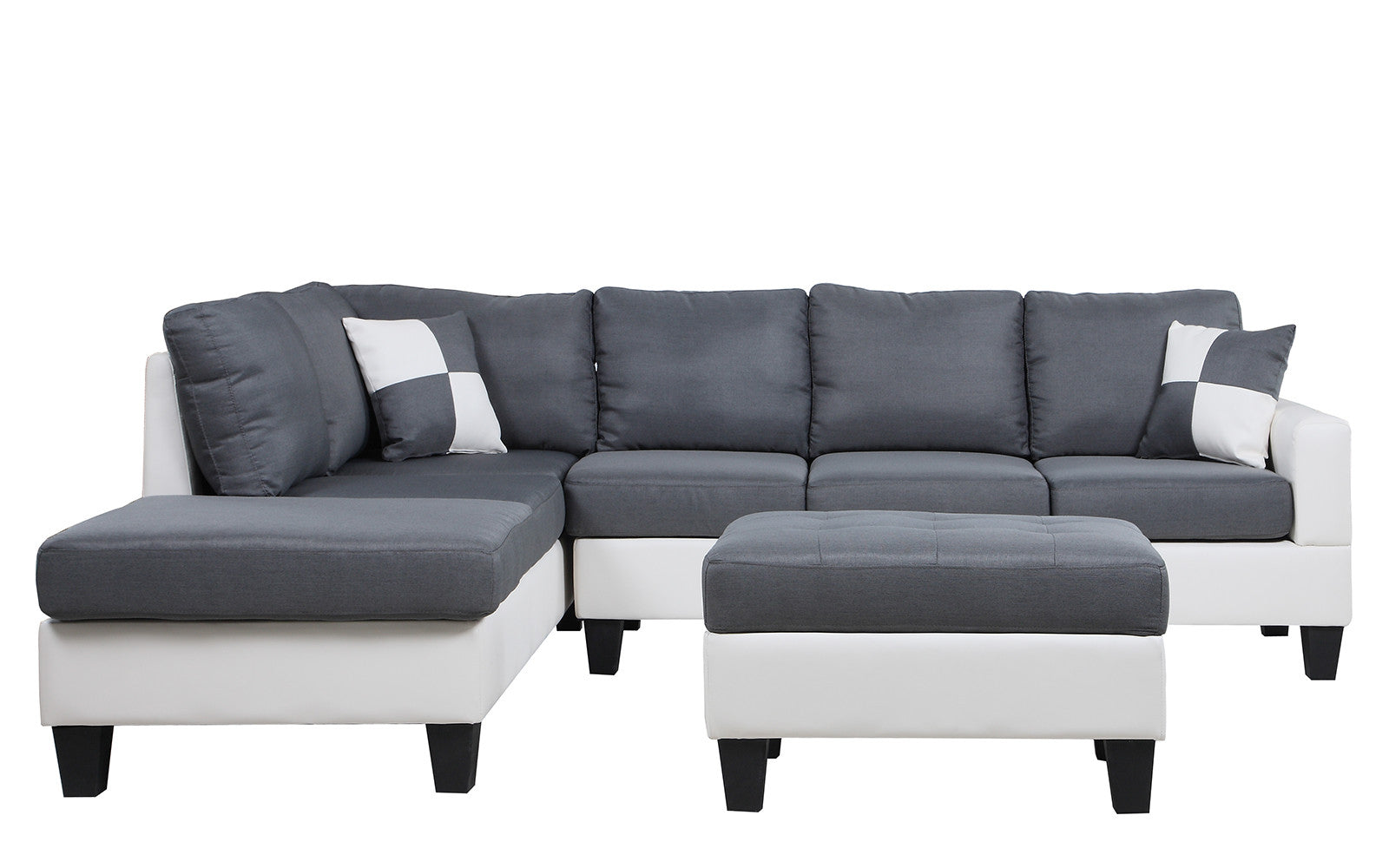 added grey chaise pdp spaces successfully to wlaf fabric piece lucy qty laf living w sectional been your cart has gray