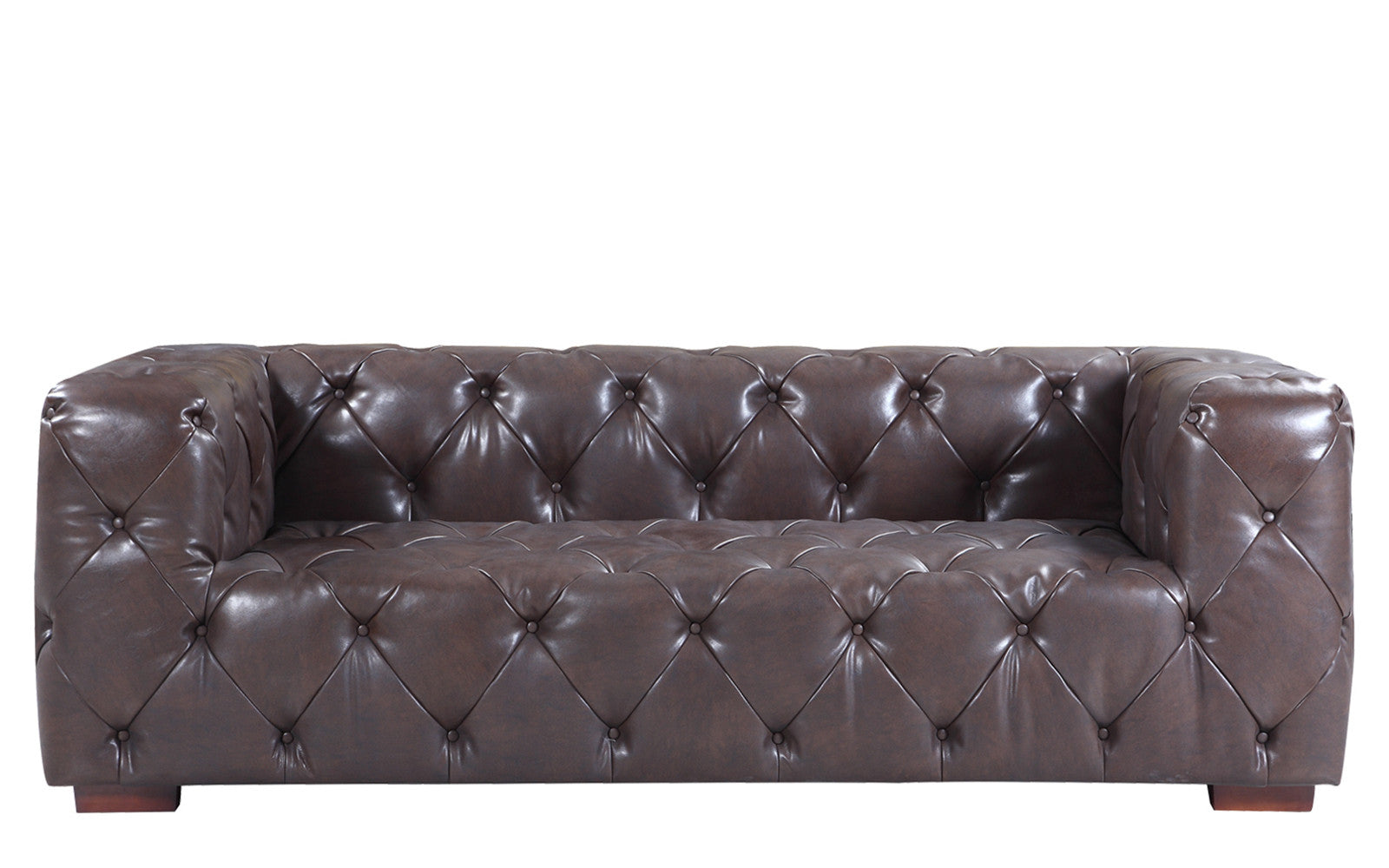... Ralph Modern Tufted Leather Sofa In Dark Brown ...