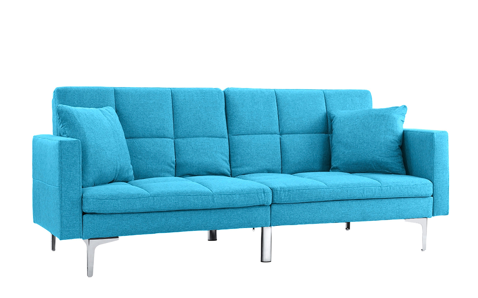Savion Contemporary Box Tufted Sleeper Futon
