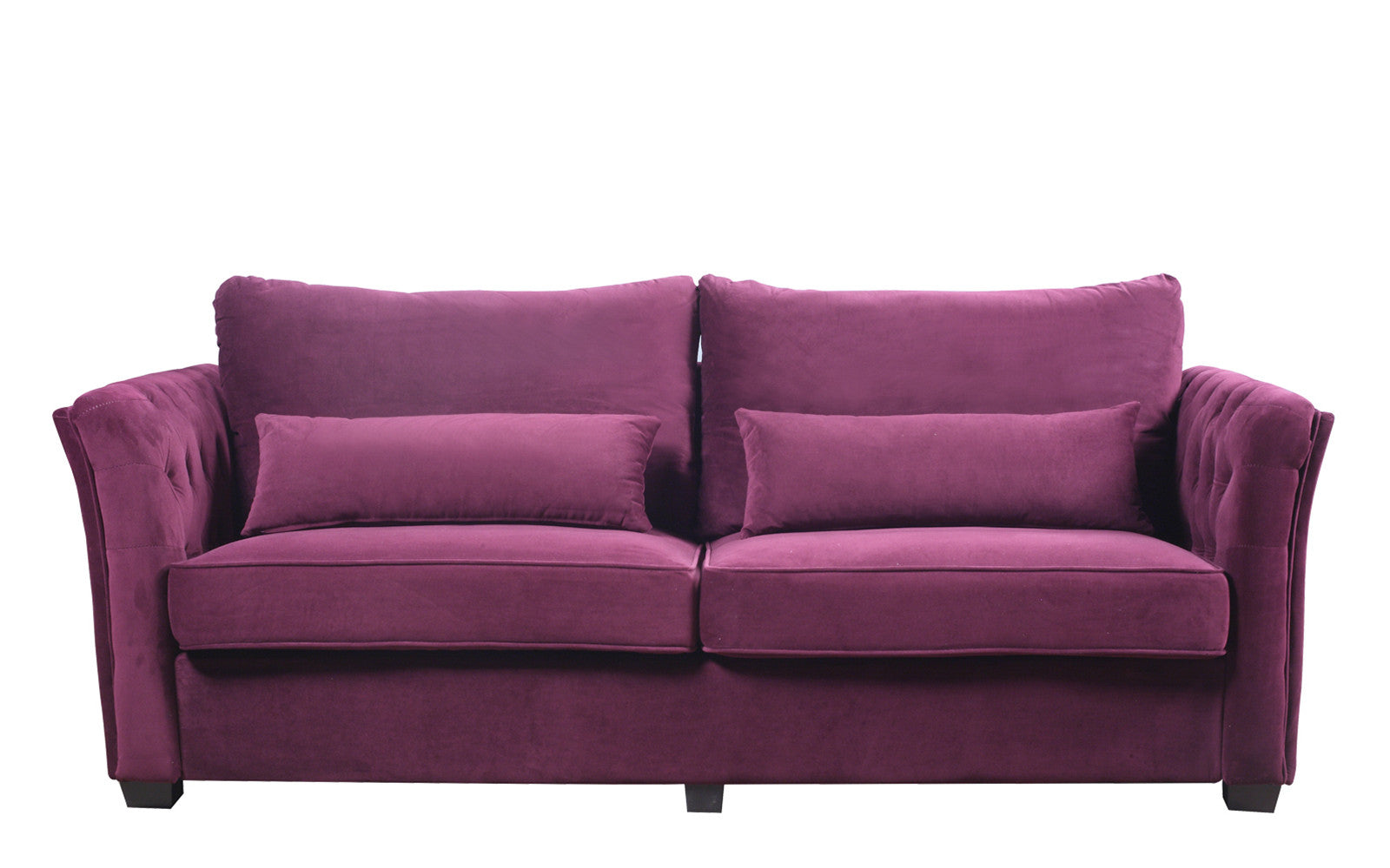 Petros traditional velvet sofa for Traditional sofas and loveseats