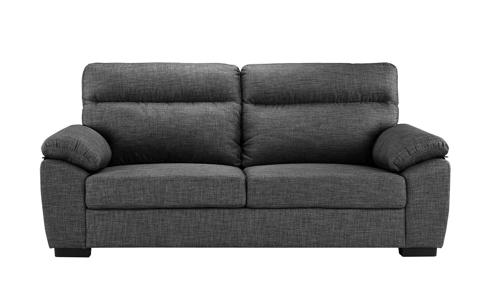 Luca Modern Linen Sofa And Loveseat Set Sofamania Com ~ Grey Sofa And Loveseat Sets