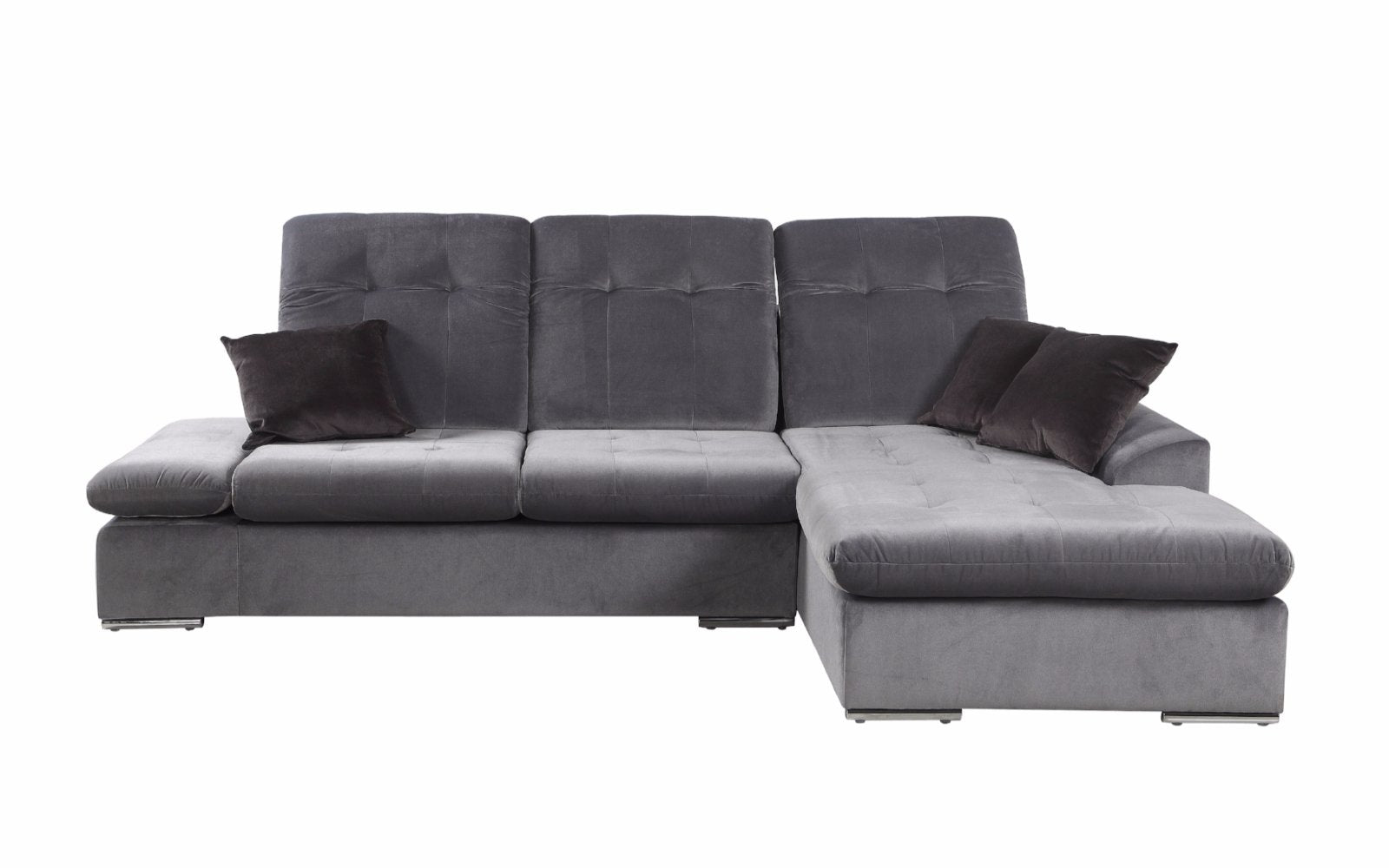 Concorde Modern Microfiber Sectional Sofa with Right Chaise ...
