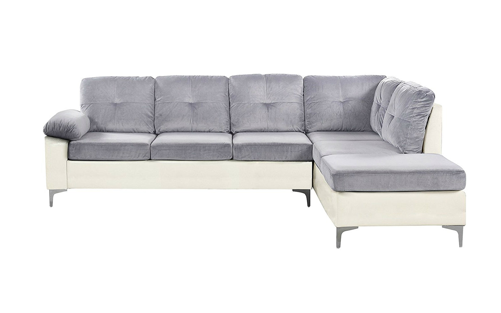 Microfiber Faux Leather Sectional Sofa Image