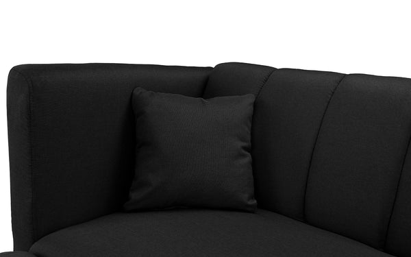 Amazing Esme Contemporary Loveseat Sleeper Futon With Chaise Lounge Short Links Chair Design For Home Short Linksinfo