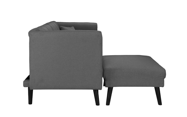 Astounding Esme Contemporary Loveseat Sleeper Futon With Chaise Lounge Alphanode Cool Chair Designs And Ideas Alphanodeonline