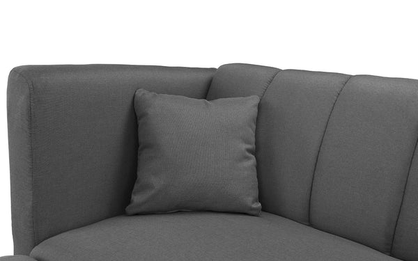 Admirable Esme Contemporary Loveseat Sleeper Futon With Chaise Lounge Short Links Chair Design For Home Short Linksinfo